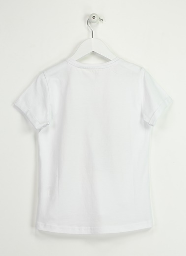 Asymmetry Baskılı Tişört Beyaz
